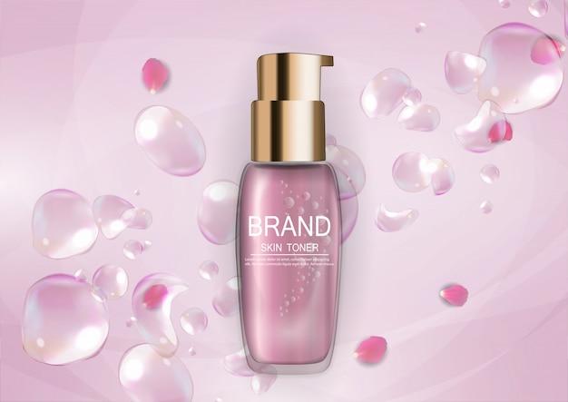 Шаблон продукта design cosmetics для рекламы или фона журнала