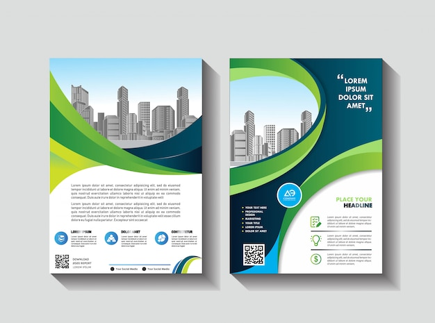 Design cover book brochure layout flyer poster background annual report