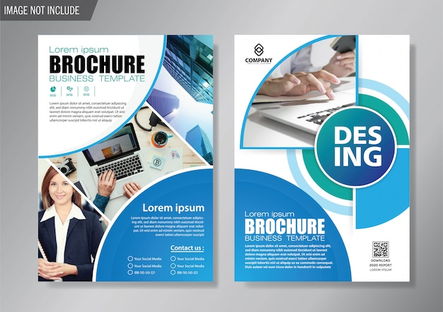 Design Cover Flyer And Brochure Business Template For Annual