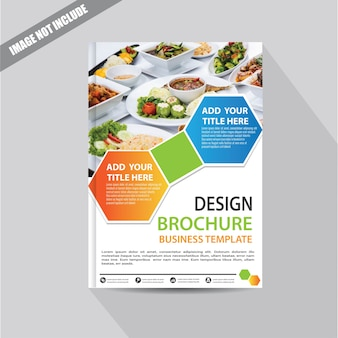 Design cover flyer or brochure with geometric shape