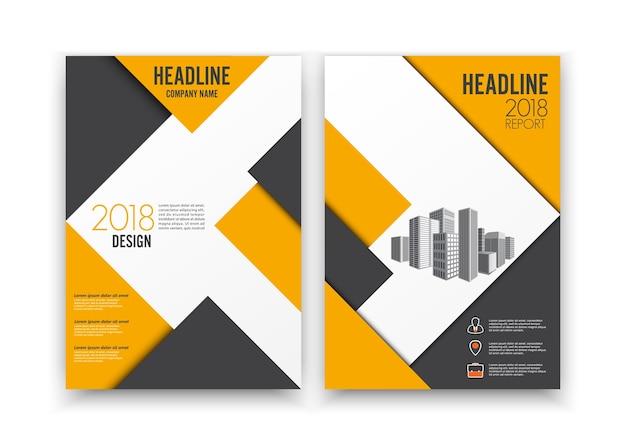 デザインカバーポスターカタログブックパンフレットチラシレイアウト年次レポートビジネステンプレート。