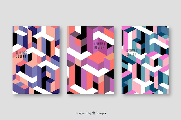 Design cover templates with geometric shapes
