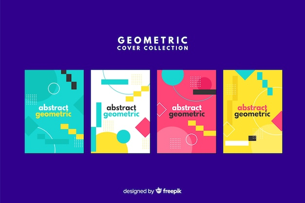Design covers in geometric style