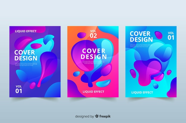 Design covers with colorful liquid effect