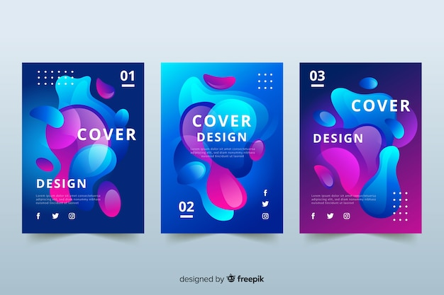 Design covers with duotone liquid effect