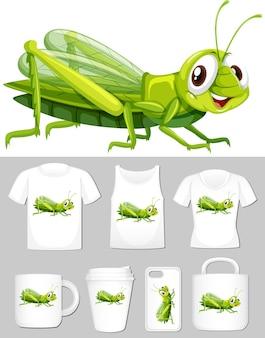 Progettazione di cricket in diverse t-shirt