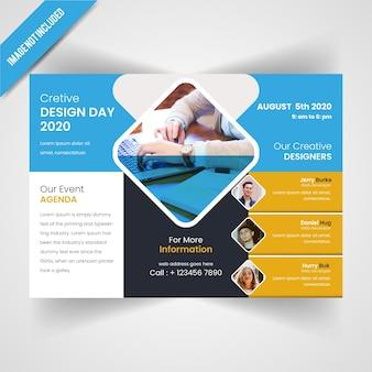 Дизайн горизонтального шаблона flyer