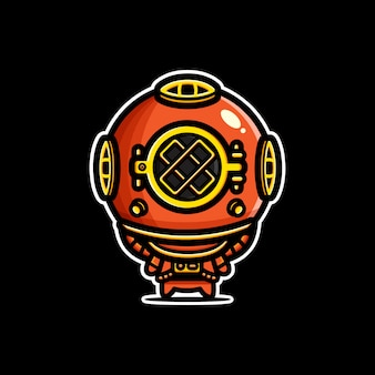 Design of deep sea diver characters