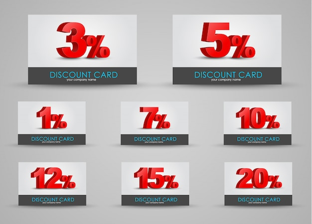 デザイン割引カードセット