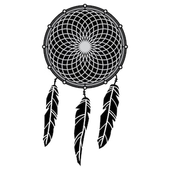 Design dream catcher outline vector illustration