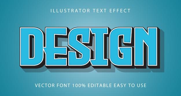 Design  editable text effect