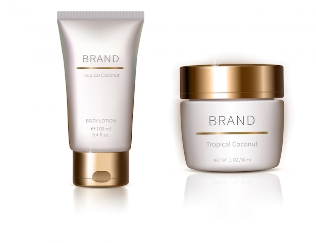 Design element with organic cosmetics