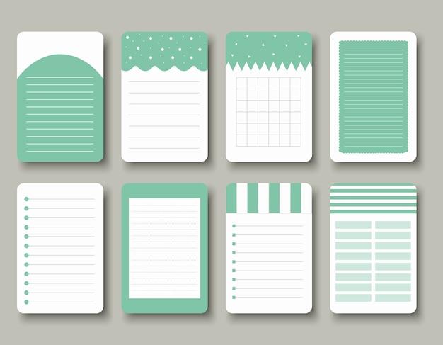 ノート、日記、ステッカーなどのデザイン要素
