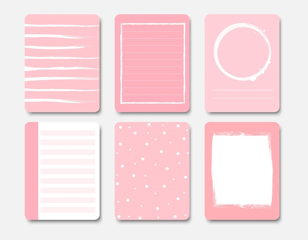 Design elements for notebook and diary