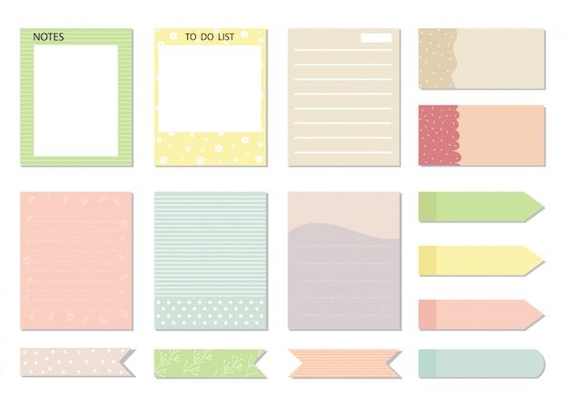 Design elements for notebook,