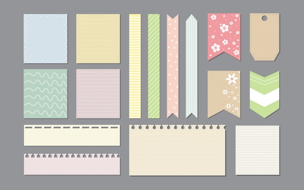 Design elements for notebook