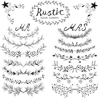 Design elements in rustic style