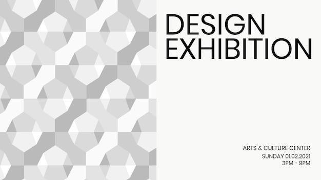 Design exhibition geometric template vector ad banner geometric modern style