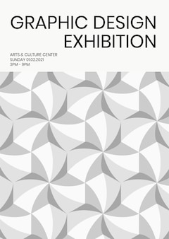 Design exhibition geometric template vector ad poster geometric modern style