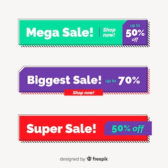 Design of geometric banners for offers and discounts