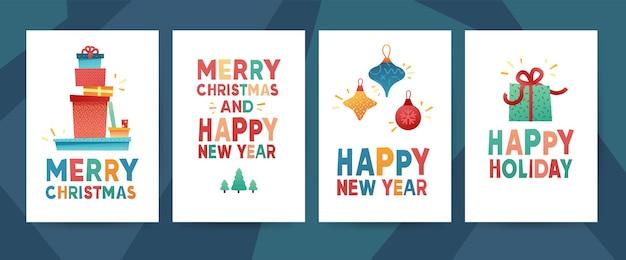 메리 크리스마스 디자인 인사말 카드