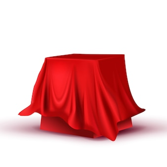 Design hidden red tablecloth square table