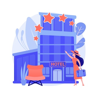 Design hotel concetto astratto illustrazione