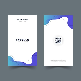 Design of id card template with wave shapes object