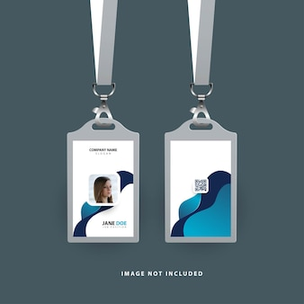Design of id card template with wave shapes