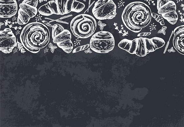 잉크 손으로 그린 디자인 일러스트 카드 디자인