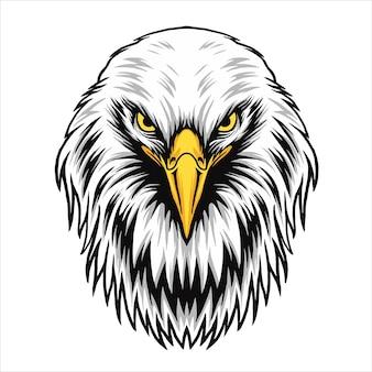 Дизайн иллюстрация орел голова вектор