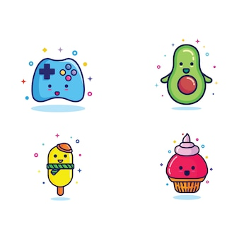 Design illustration of funny character