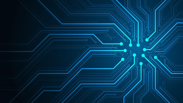전자 회로 기판 개념의 설계.