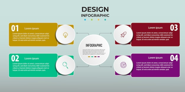 Design infographic step