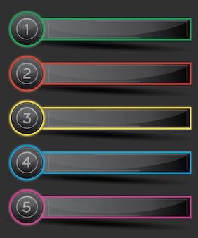 Дизайн инфографики с пятью вариантами.