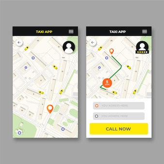 Design interface taxi app