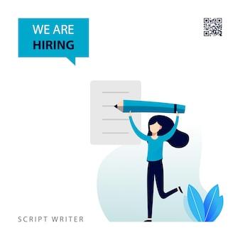 Design of job vacancy for script writer