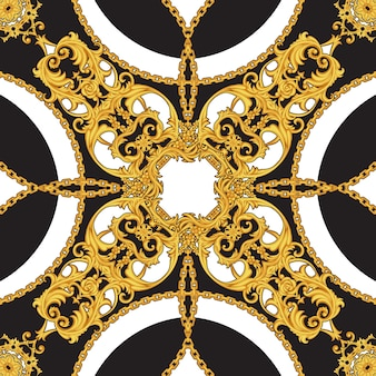 Design of kerchief in baroque style
