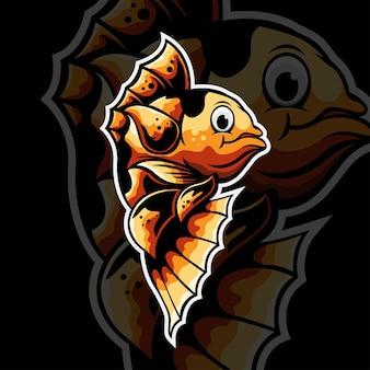 잉어 전통 아시아 물고기 그림 디자인