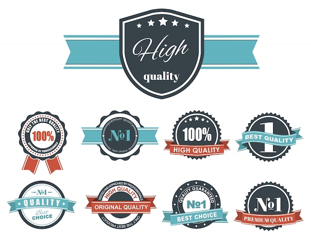 Design label set with the quality mark