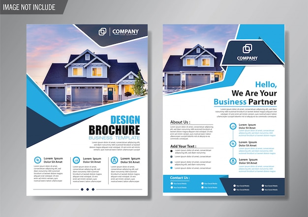 Design layout cover flyer and brochure business template for background annual report