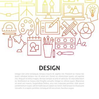 Концепция линии дизайна. векторная иллюстрация набросков шаблона.