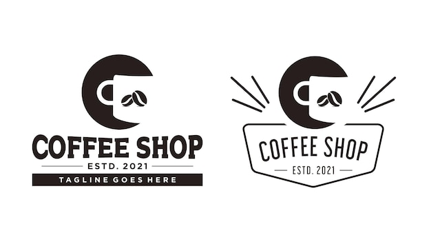 Дизайн логотипа кофейни вектор