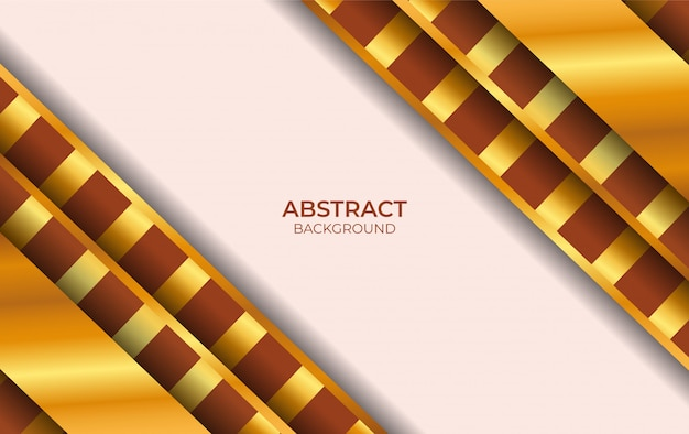 Design luxury brown and gold background