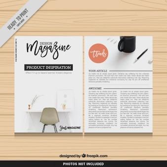 Design magazine template Premium Vector