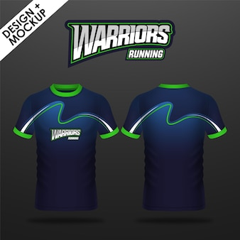 Design and mockup of marathon shirt