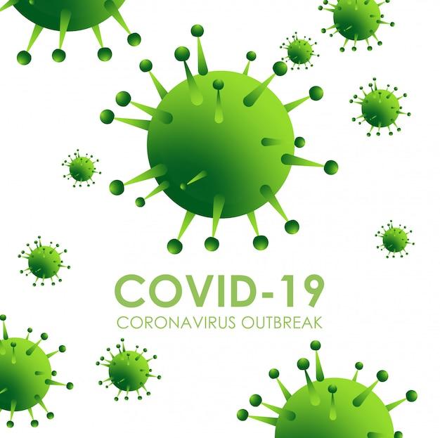 Проектирование вспышки коронавируса с вирусной клеткой в микроскопической форме
