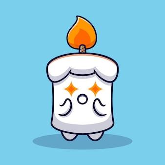 Дизайн милой иллюстрации талисмана свечи
