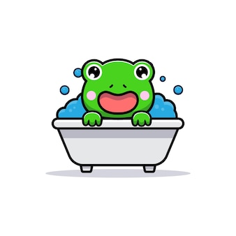 浴槽のかわいいカエルのデザイン