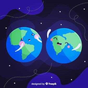 Проектирование земли в космосе